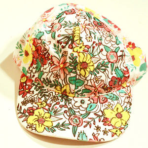 Floral Flower Sports Baseball Cap Hat Hand Painted